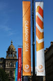 Glasgow Commonwealth Games 2014. Advertising in George Square, city centre Glasgow Royalty Free Stock Image