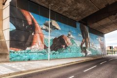 Glasgow Commonwealth Games Mural Photographie stock libre de droits