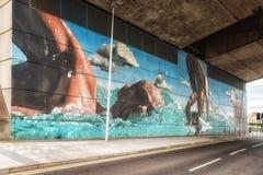 Glasgow Commonwealth Games Mural imagem de stock royalty free