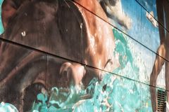 Glasgow Commonwealth Games Mural Image stock