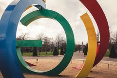 Glasgow 2014 Commonwealth Games sculpture in Glasgow Green royalty free stock photos