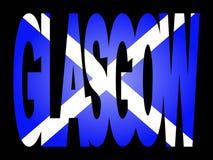 Glasgow con la bandierina scozzese illustrazione vettoriale