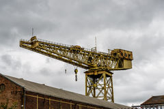 Glasgow docks crane Stock Photos
