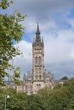 Glasgow, Ecosse, le 7 septembre 2013, b?timent principal et tour de l'universit? de Glasgow chez Gilmorehill photo stock