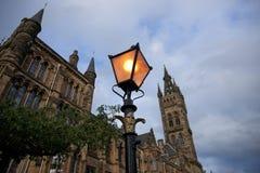 Glasgow, Ecosse, le 7 septembre 2013, b?timent principal et tour de l'universit? de Glasgow chez Gilmorehill images stock