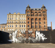 GLASGOW, ECOSSE - VERS 2015 : Art de rue photos libres de droits