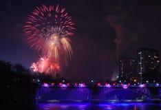 Glasgow Fireworks 2014 Stockbild