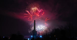 Glasgow Fireworks 2014 Stock Photos