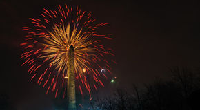 Glasgow Fireworks 2014 Stock Image