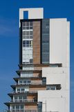 Glasgow flats. Glasgow's modern housing architecture in full sunlight royalty free stock image