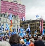 Glasgow George Square Hope sobre el miedo 19/09/15 Fotos de archivo libres de regalías