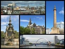 Glasgow gränsmärkecollage Arkivbild