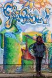 GLASGOW, Großbritannien, im März 2014: Straßenkunst in Glasgow West End, nahe vorbei Stockfoto
