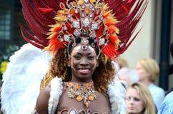 Brasilianischer Tänzer, Handelsstadt-Festival, Glasgow Stockfotografie