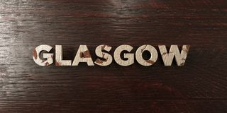 Glasgow - grungy wooden headline on Maple - 3D rendered royalty free stock image. This image can be used for an online website banner ad or a print postcard stock illustration