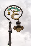 Glasgow Lamp Post. An artistic lamp post from the Scottish city of Glasgow Stock Photos