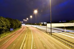 Glasgow light trails Royalty Free Stock Photography