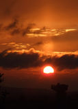 Glasgow mette in bacino il tramonto 02 Fotografie Stock