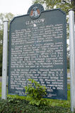 Glasgow Missouri History sign Stock Image