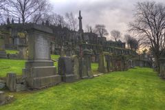 Glasgow Necropolis. The necropolis in Glasgow, Scotland Royalty Free Stock Photography