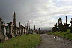 glasgow necropolis Arkivbilder