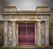 Glasgow Necropolis Crypt. Entrance to a crypt in the necropolis graveyard in Glasgow, Scotland Royalty Free Stock Image