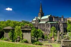 Glasgow Necropolis e catedral, Escócia imagem de stock