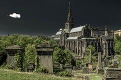 Glasgow Necropolis e catedral, Escócia fotos de stock royalty free