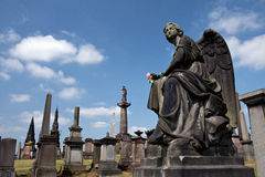 Glasgow Necropolis. Graves at the cemetery in Glasgow,Scotland stock images