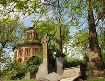 Glasgow Necropolis Gravestones och mausoleum royaltyfri foto