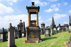 Glasgow Necropolis. Glasgow Necropolis and St.Mungo`s Cathedral Royalty Free Stock Photos
