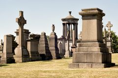 The Glasgow Necropolis, a Victorian cemetery in Glasgow Stock Photo