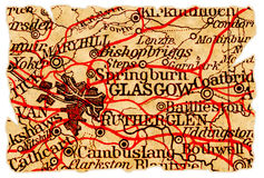 Glasgow old map Stock Image