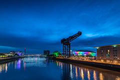 Glasgow par nuit Photo libre de droits