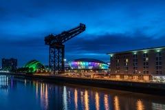 Glasgow par nuit Photos libres de droits