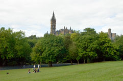 Glasgow park in Scotland with people Stock Image