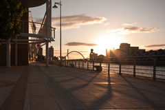 Glasgow promenade Royalty Free Stock Photography