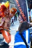 Danseur brésilien, festival marchand de ville, Glasgow Images libres de droits