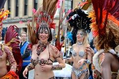 Danseurs, festival marchand de ville, Glasgow Photos stock