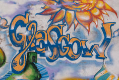 GLASGOW, R-U, juin 2014 : Art de rue en Glasgow West End Images stock