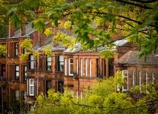 Glasgow Red Sandstone Tenements photo stock