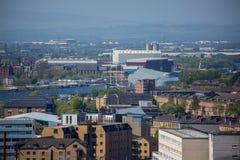 Glasgow Riverside Museum dalla costruzione del culmine fotografia stock