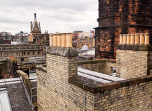 Glasgow Rooftops, Wide-Angle Stock Photography