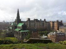 Glasgow. The Royal Infirmary, and the Cathedral in Glasgow Royalty Free Stock Photography