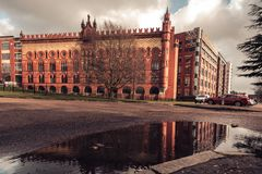 Glasgow`s historic Templeton Carpet Factory Building in Glasgow royalty free stock image