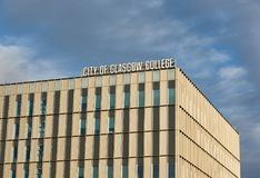 Closeup on a City of Glasgow College building. Education may suffer as a consequence of Brexit. Glasgow, Scotland - 1 December 2017 : Closeup on a City of stock photos