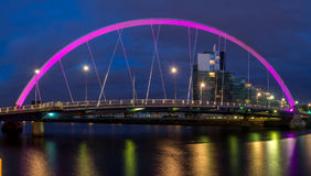 The Clyde Arc bridge over the river Clyde Stock Images
