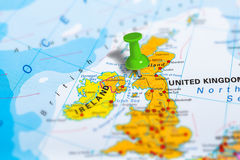 Glasgow Scotland map Stock Image