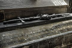 Sword in Glasgow cathedral, Scotland royalty free stock image