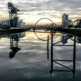 Glasgow Scotland-Sonnenaufgang Lizenzfreie Stockbilder